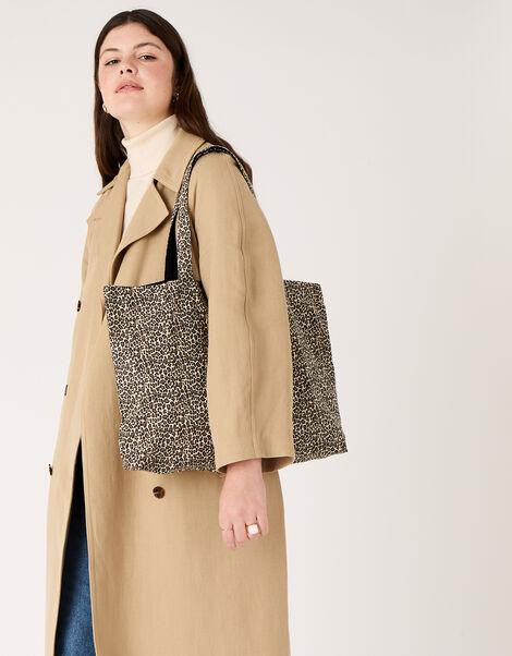 Animal Print Shopper Bag , , large