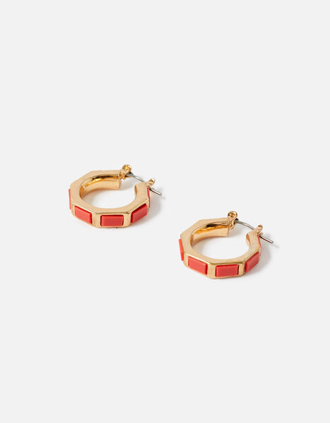 Reconnected Enamel Inlay Hoops , , large