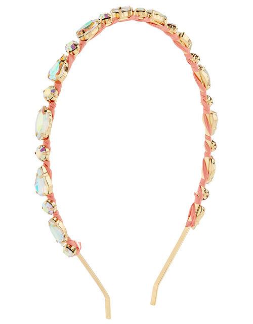 Crystal Headband with Ribbon, , large