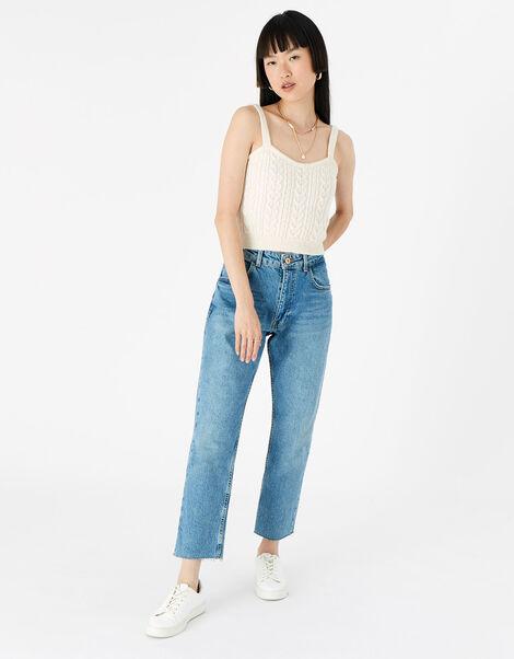 Lounge Knit Vest  Cream, Cream (CREAM), large