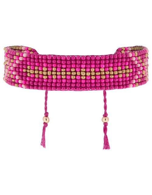 Beaded Woven Friendship Bracelet, , large