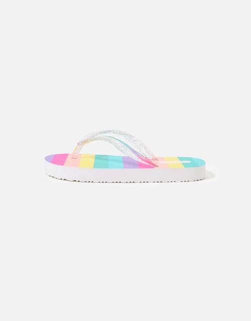 Rainbow Stripe Flip Flops, Multi (BRIGHTS-MULTI), large