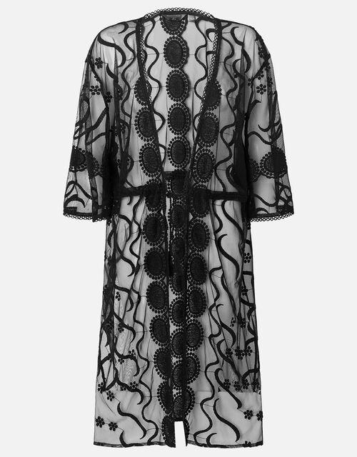 Lace Kimono, Black (BLACK), large