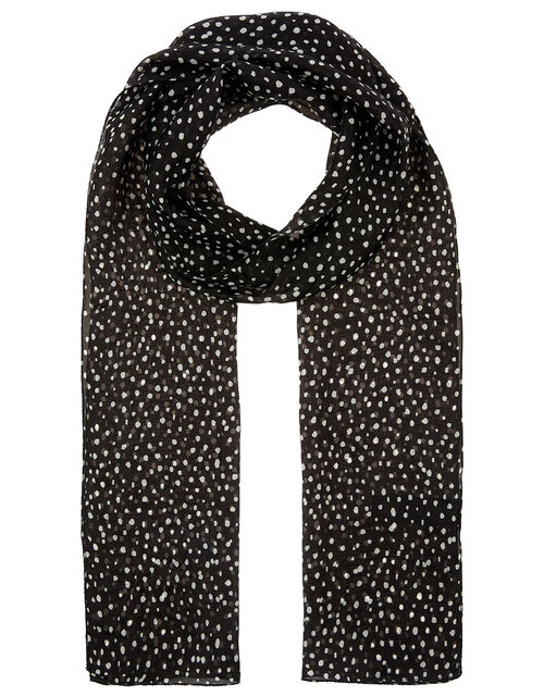 Polka Dot Scarf in Pure Silk, , large