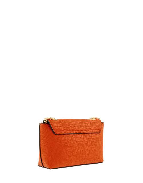 Mini Cross-Body Bag with Chain Strap, Orange (ORANGE), large