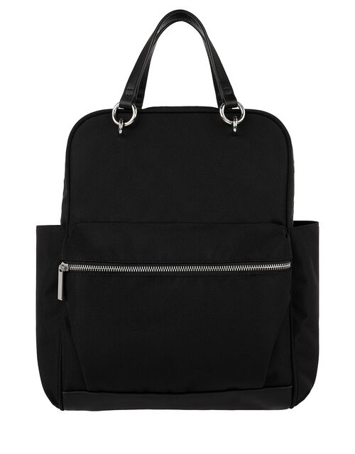 Canvas Backpack With Carry Handles, , large