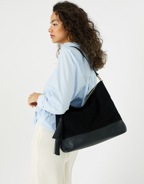 Slouch Leather Shoulder Bag , , large