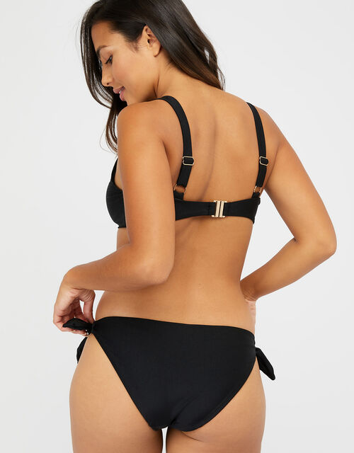 Tie Front Bikini Top, Black (BLACK), large