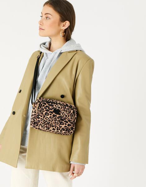 Megan Large Nylon Cross-Body Bag  Leopard, Leopard (LEOPARD), large