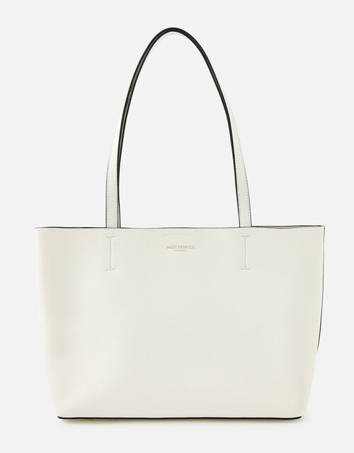 Leo Tote Bag, White (WHITE), large