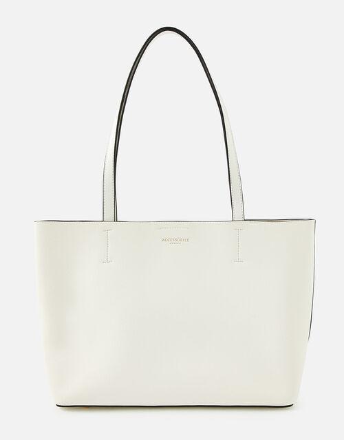 Leo Tote Bag, White (WHITE), large
