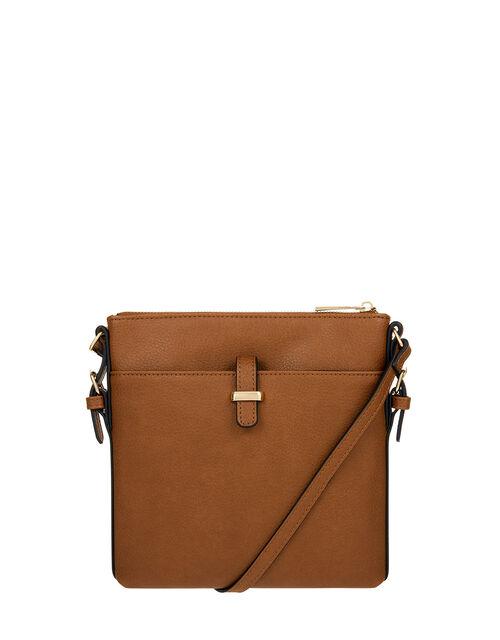 Modern Messenger Bag, Tan (TAN), large