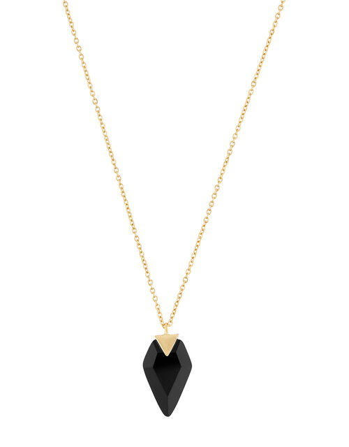 Healing Stones Gold-Plated Black Onyx Necklace, , large