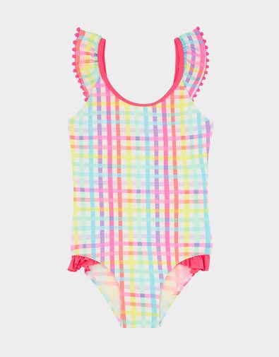 Rainbow Check Swimsuit Multi, Multi (BRIGHTS-MULTI), large