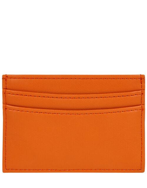 Embroidered Rainbow Cardholder, Orange (CORAL), large