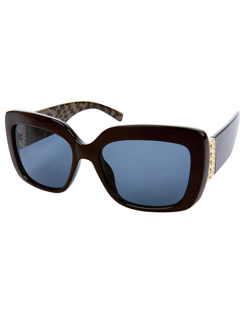 Stella Square Sunglasses with Chain Detail, , large