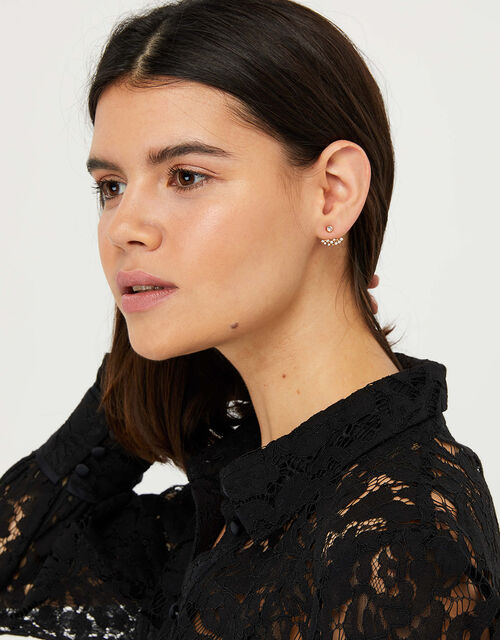 Gold-Plated Sparkle Ear Jackets, , large
