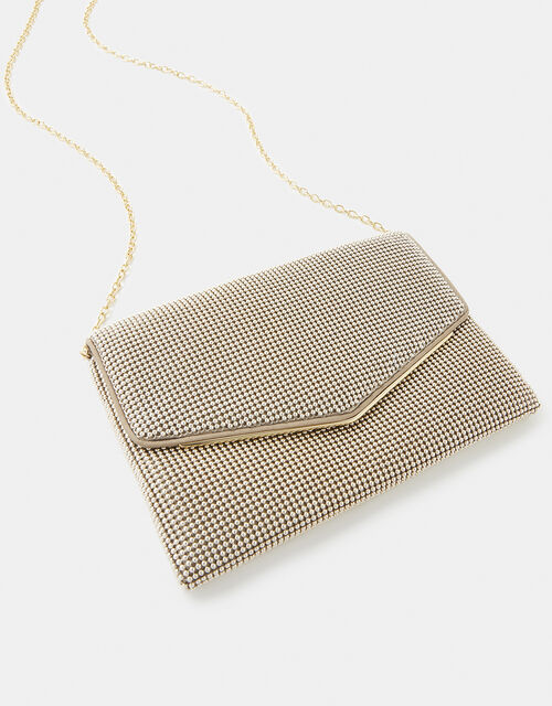 Embellished Envelope Clutch Bag, Gold (GOLD), large