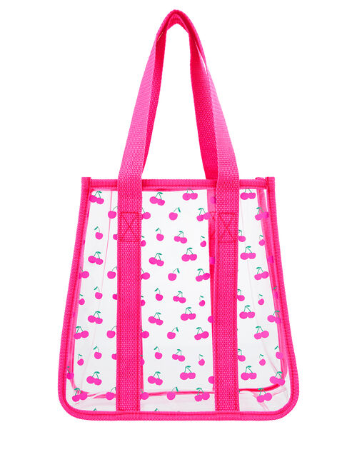 Cherry Clear Jelly Shopper Bag, , large