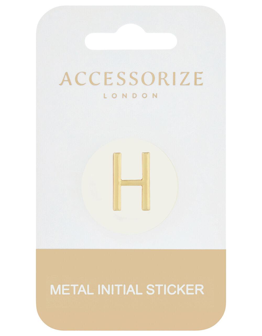 Metallic Initial Sticker - H, , large