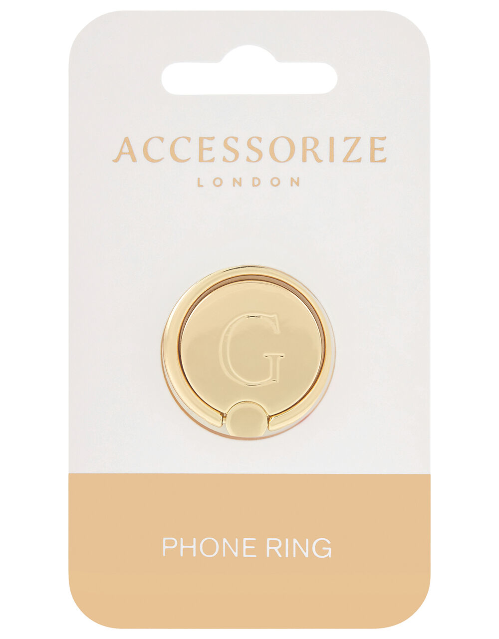 Metallic Initial Phone Ring - G, , large
