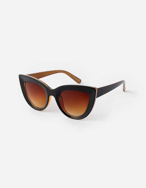 Cara Chunky Cat Eye Sunglasses, , large