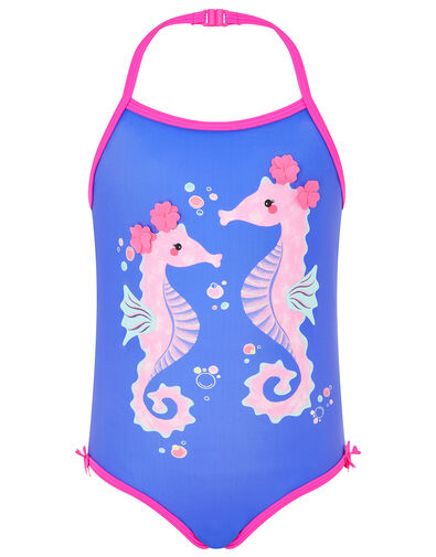 Seahorse Swimsuit with Recycled Polyester Blue, Blue (BLUE), large