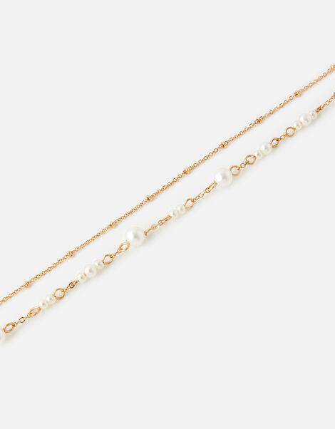 Pearly Layered Anklet, , large