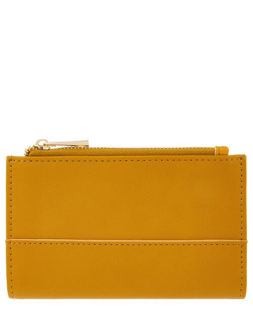 Katy Faux Leather Slim Wallet, Yellow (OCHRE), large