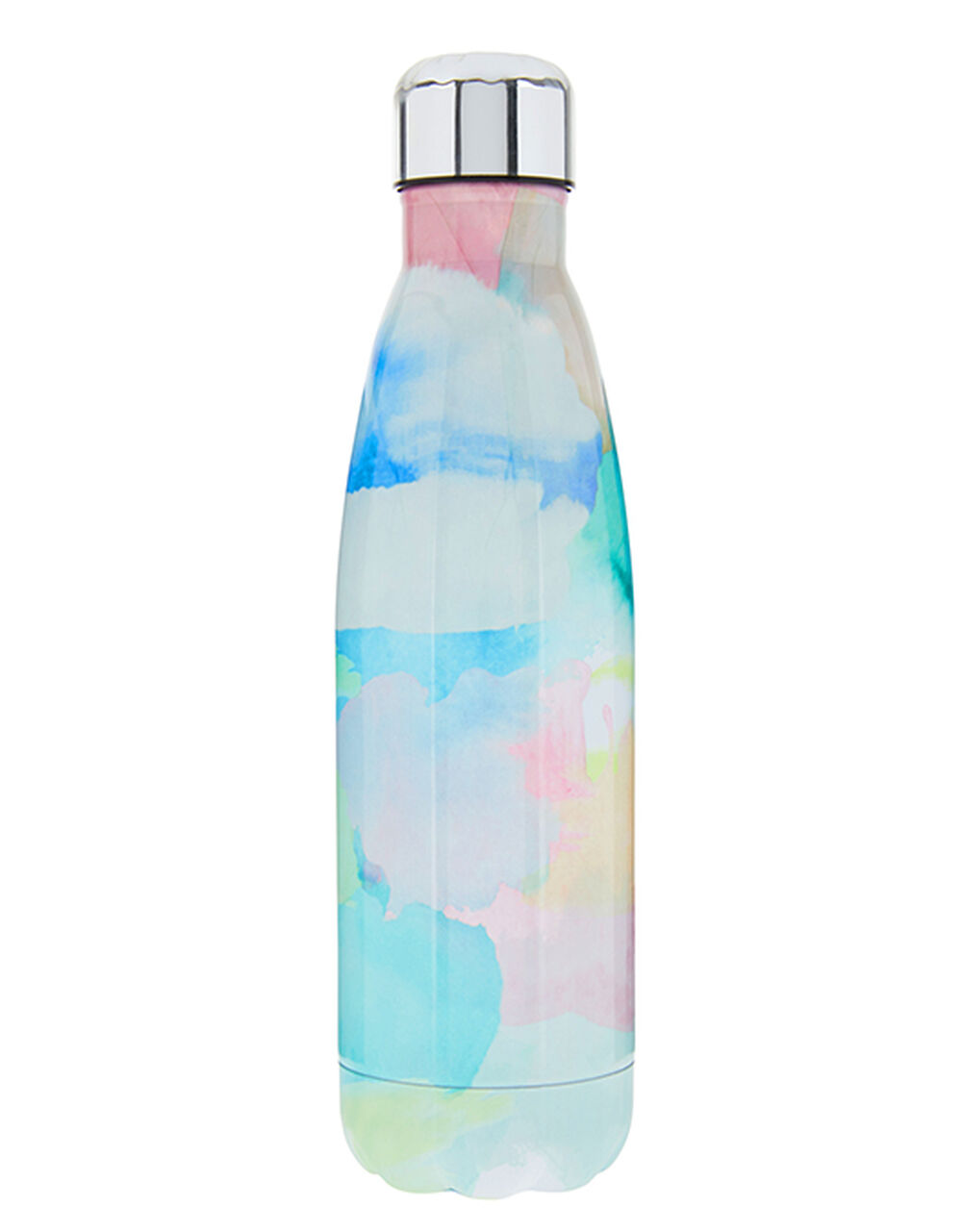 Watercolour Double-Walled Metal Water Bottle, , large