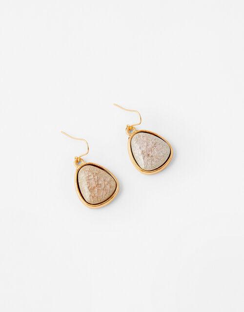 Ceramic Stone Short Drop Earrings, , large