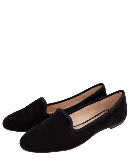 Delilah Flat Shoes, Black (BLACK), large