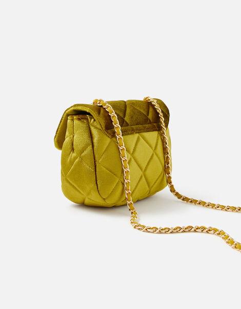 Lucy Velvet Cross-Body Bag  Yellow, Yellow (YELLOW), large