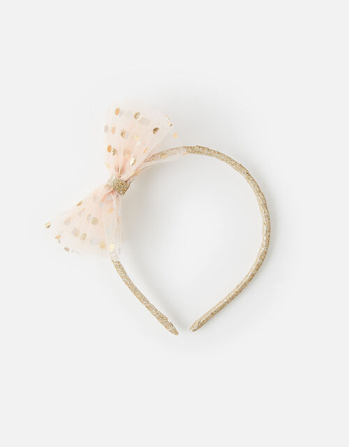 Sparkle Bow Headband, , large