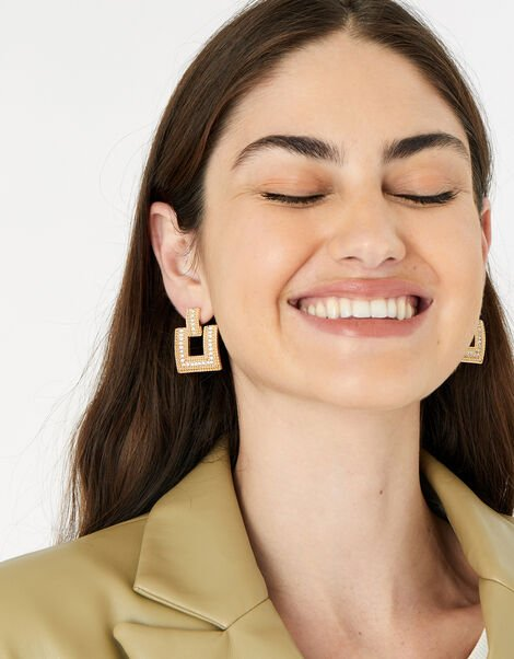 New Decadence Statement Square Earrings, , large