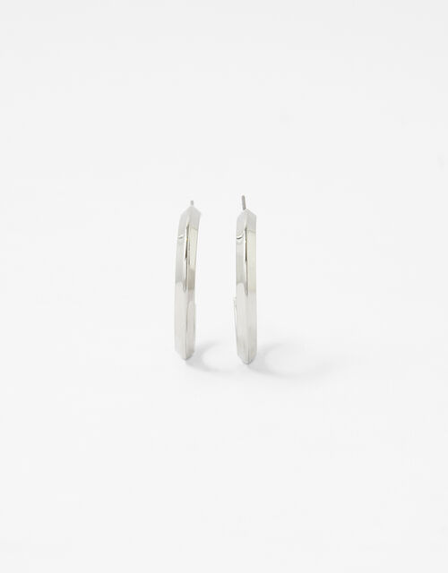 Flat Edge Hoop Earrings, , large