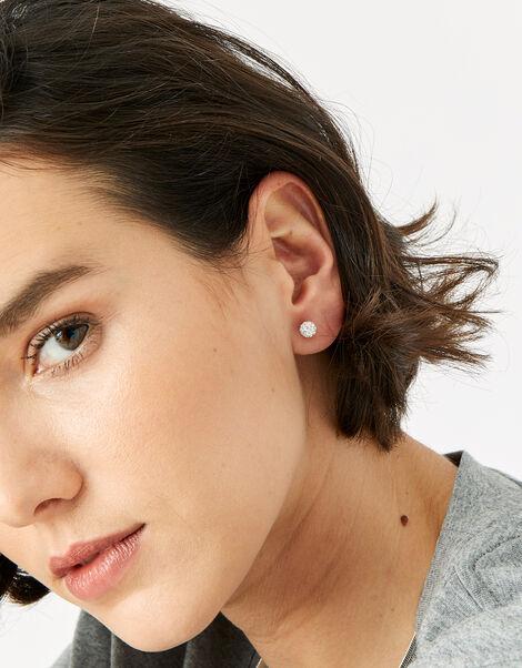 Sparkle Pave Ball Stud Earrings, , large