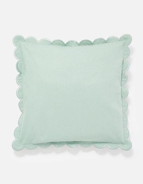 Scallop Edge Cushion Cover Blue, Blue (BLUE), large