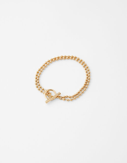 Ball Chain T-Bar Bracelet, , large