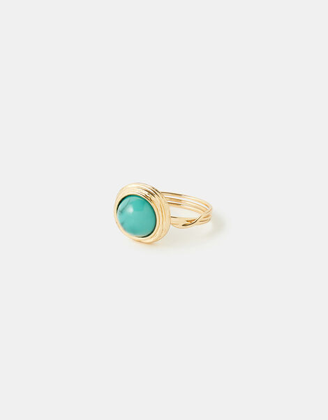Turquoise Stone Ring Blue, Blue (TURQUOISE), large
