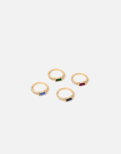 Feel Good East-West Baguette Rings, Multi (BRIGHTS-MULTI), large