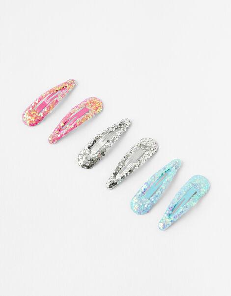 Glitter Hair Clip Set, , large