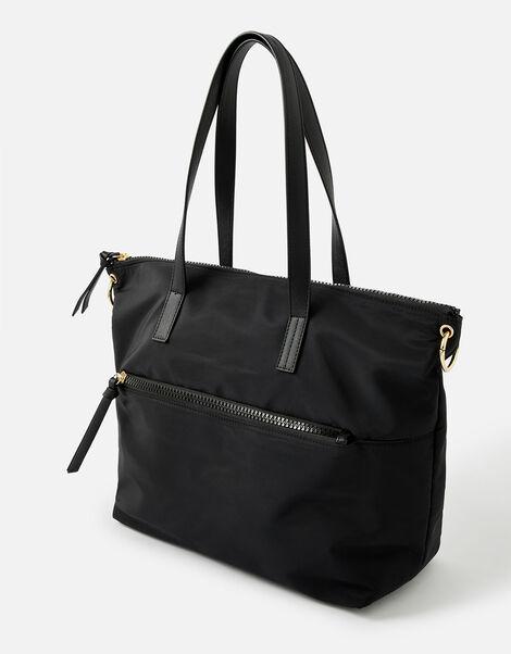 Nadine Nylon Tote Bag Black, Black (BLACK), large