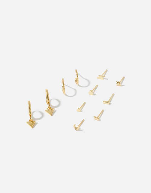 Gold-Plated Celestial Stud and Hoop Multipack, , large