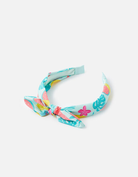 Bow Fruit Print Alice Band, , large