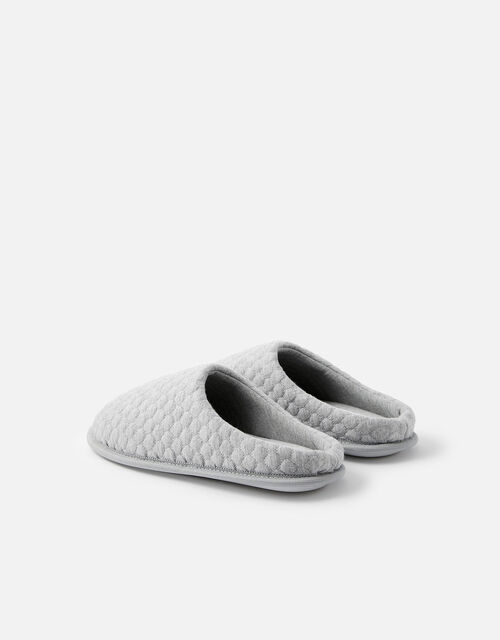 Bubble Stitch Slippers, Grey (GREY), large