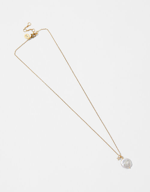 Gold-Plated Freshwater Pearl Celestial Necklace, , large