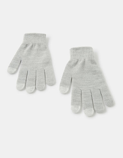 Shimmer Knit Touchscreen Gloves, Grey (LIGHT GREY), large