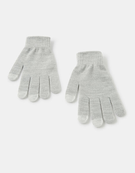 Shimmer Knit Touchscreen Gloves Grey, Grey (LIGHT GREY), large