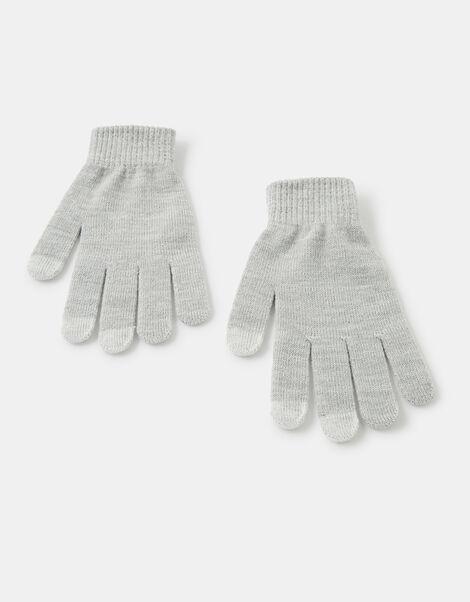 Shimmer Knit Touchscreen Gloves Grey, Grey (LIGHT GREY), large
